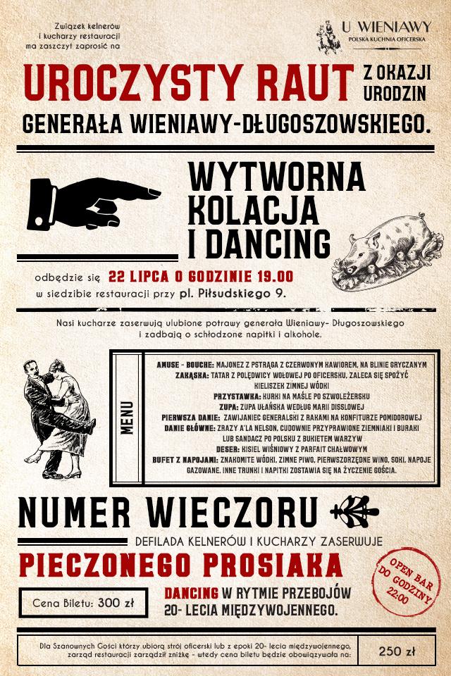 U Winiawy Restauracja Warszawa kuchnia oficerska